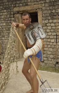 Jan Krüger, Leiter der Gladiatorenschule Trier. Foto: Lars Eggers