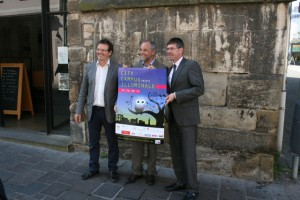 OB Klaus Jensen, Uni-Präsident Michael Jäckel und Hochschul-Präsident Norbert Kuhn