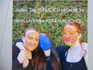 Das Plakat der Schülerinnen des Gymnasiums Konz, Hanna Lacour, Julia Hauer,  Anna Koch, belegte in RLP den 2. Platz. Foto: Polizei Trier