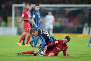 24.10.2014, Moselstadion, Trier, GER, RLSW, Eintracht Trier vs Kickers Offenbach, im Bild    Foto © Sebastian J. Schwarz - 5VIER