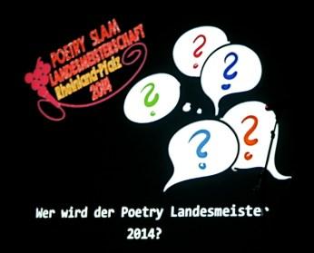 Poetry Slam Landesmeisterschaft Rheinland-Pfalz 2014. Eröffnungsgala. - 5VIER