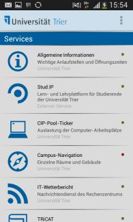CampusApp der Universität Trier