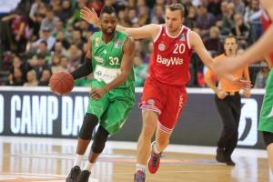 Die beiden Topspieler ihrer jeweiligen Teams: Jermaine Bucknor (16 Punkte) hatte mit seiner Mannschaft das Nachsehen gegen Dusko Savanovic (13) und den FC Bayern München.
