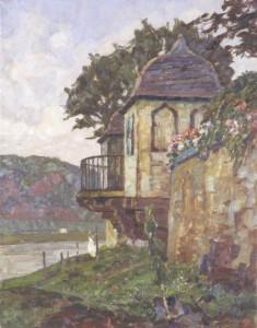 Otto Antoine, Gartenpavillon in Zurlauben, Ölgemälde, um 1930. © Stadtmuseum Simeonstift Trier