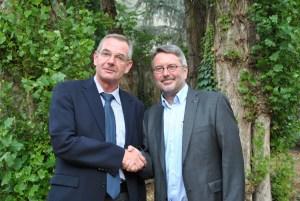 Der neue und der alte Vorsitzende der Unionsfraktion im Stadtrat. vo. li. Ulrich Dempfle und Udo Köhler Foto: CDU