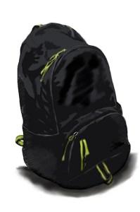 Zeichnung Rucksack