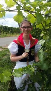 Foto: Annika die zukünftige Weinkönigin