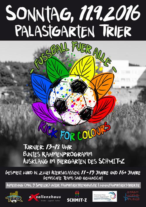 Kick of Colours, Foto: Exzellenzhaus e.V. – Kinder, Jugend, Kultur - Fanprojekt Trier -