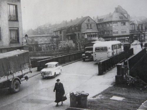 Gartenfeldbrücke frrüher, Foto: Stadtarchiv Trier, Verlag michael weyand