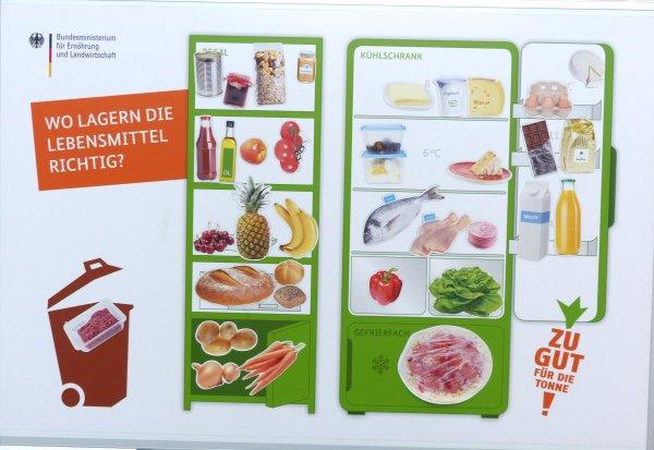 Das Kühlschrank-Spiel, Mit Magneten Lebensmittel richtig zuordnen, Foto: Marie Baum