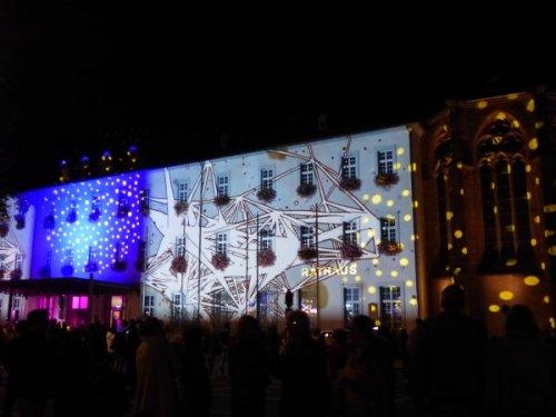 Lichterspiel am Rathaus, Foto: Marie Baum