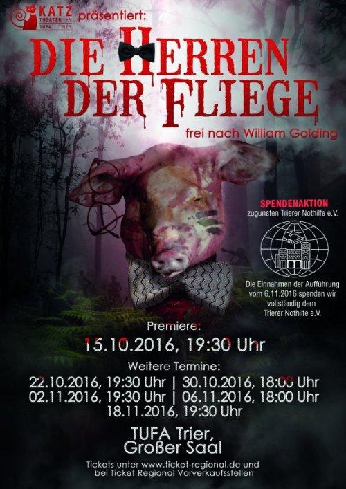 "Plakat ""Herr der Fliege"", Foto: Katz-Theater e.V."