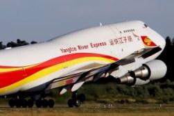 Hat dem Flughafen Hahn erstmal den Rücken gekehrt: eine Boeing 747 der Yangtze River Express