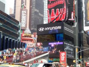 Tagsüber eher anstrengend als beeindruckend: der weltberühmte Times Square