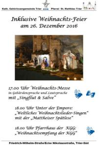 Inklusive Weihnachts-Feier