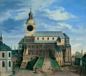 Ludwig Neureuter, Die Porta Nigra als Simeonskirche, Öl auf Holz, um 1840 © Stadtmuseum Simeonstift Trier