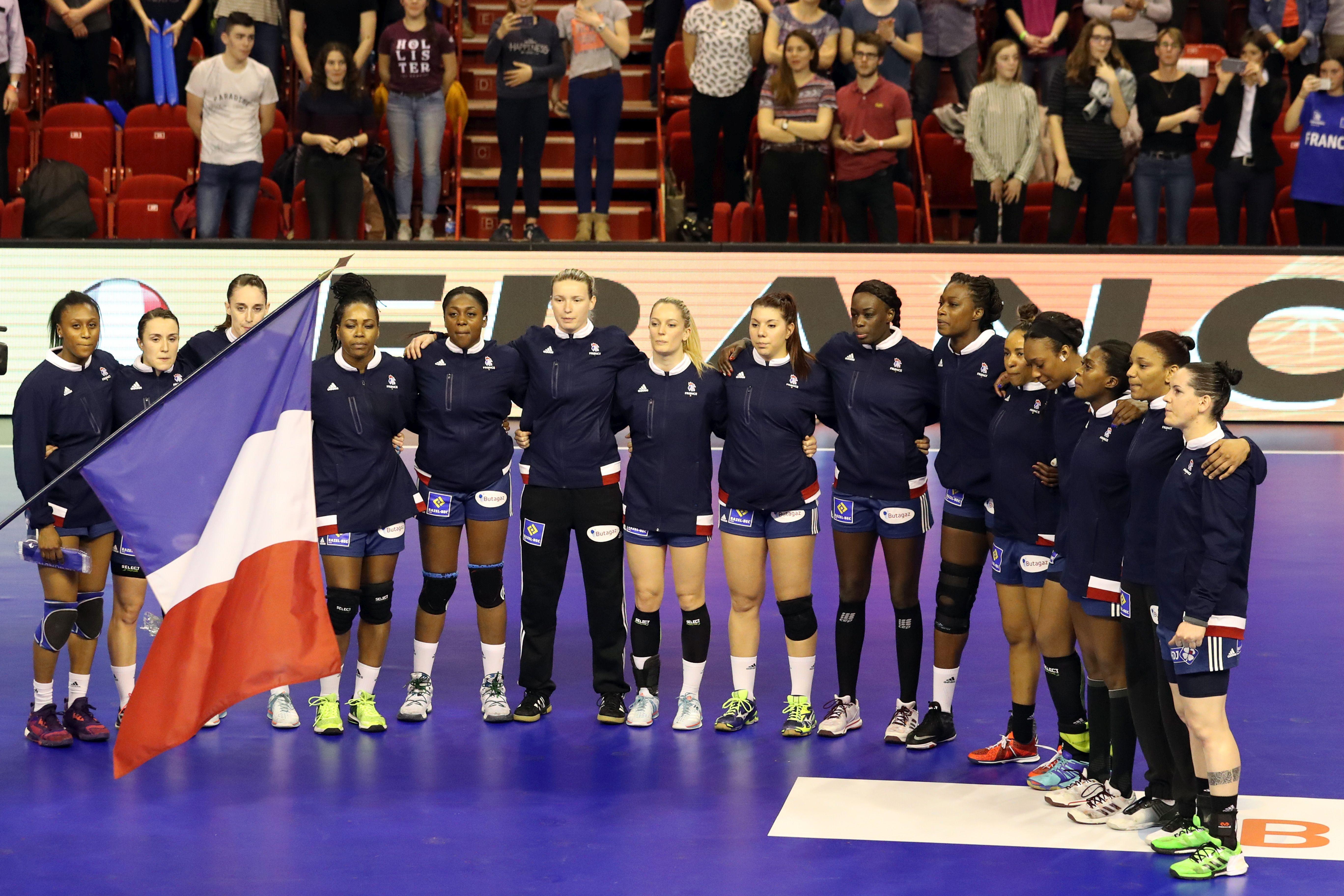 Die Frauen-Handballnationalmannschaft aus Frankreich