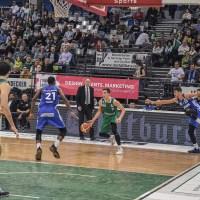 Kyle Dranginis der RÖMERSTROM Gladiators Trier gegen die PS Karlsruhe Lions