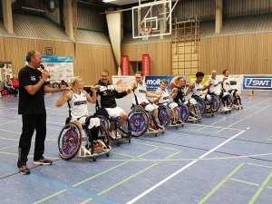DONECK Dolphins Trier vor den Spielen gegen die Baskets Hamburg und die Lahn-Dill Skywheelers