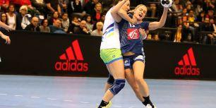 Frankreich gegen Slowenien bei der Handball-WM der Frauen in Trier