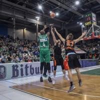 Jermaine Bucknor der RÖMERSTROM Gladiators Trier beim Heimspiel gegen die OrangeAcademy