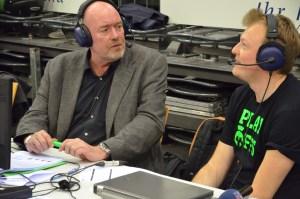 Tom Jarosch und Chris Schmidt in der Halbzeitpause. Foto: 5vier.de / Manuel Maus
