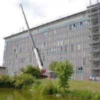 Ein Meilenstein der Sanierung des Gebäudes H der Universität Trier