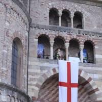 Fronleichnam: Bischof Ackermann spendet eucharistischen Segen von Domgalerie