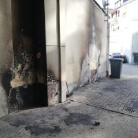 Erneuter Brandschaden in der Palaststraße Foto: 5VIER.de