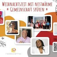 """Flyer zur Aktion """"Weihnachtszeit mit nestwärme - Gemeinschaft spüren"""""""