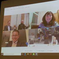 Die Oberbürgermeister bei der Videokonferenz. Bildquelle: Stadt Mainz