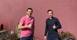 Thomas Kempny links, Sebastian Schmitt rechts