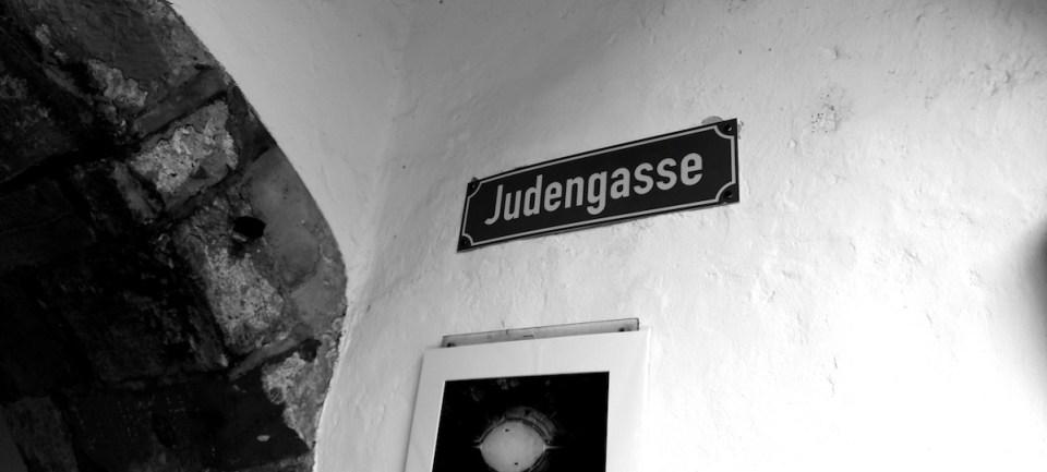 Judengasse Straßenschild