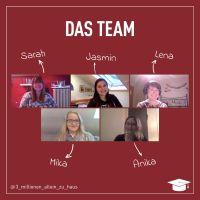 Diese fünf Studentinnen wollen auf ihre derzeitige Lage in der Krise aufmerksam machen. Bildquelle: Lena Groß
