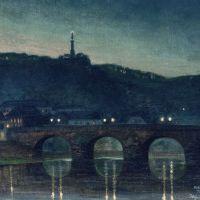 Holger Wind, Römerbrücke am Abend. Bildquelle: Stadtmuseum Simeonstift Trier