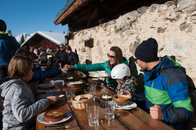 Lunch at Les Brevettes, photo credit (c) Holly Junak for Premiére Niege