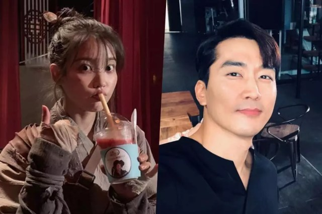 """IU Thanks Her """"Fan Club President"""" Song Seung Heon For Sending Gift To """"Hotel Del Luna"""" Set"""