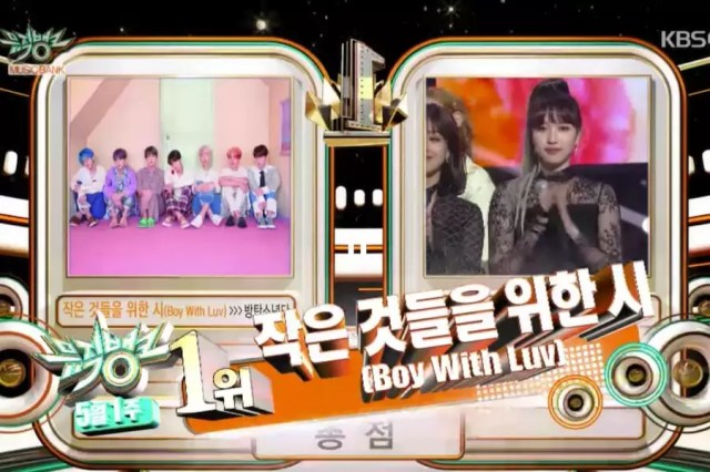 "Watch: BTS Takes 8th Win For ""Boy With Luv"" And Triple Crown On ""Music Bank""; Performances By TWICE, NU'EST, The Boyz, And More"