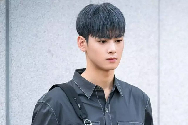 """ASTRO's Cha Eun Woo Dyes His Hair Gray For """"My ID Is Gangnam Beauty"""""""