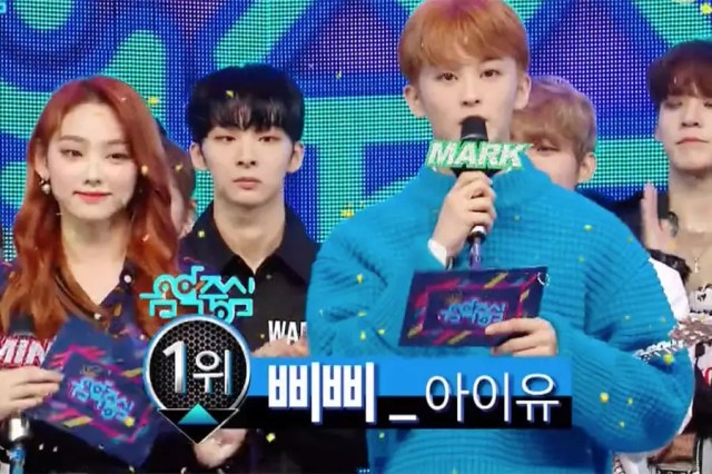 """Watch: IU Takes 6th Win For """"BBIBBI"""" On """"Music Core""""; Performances By EXO, MONSTA X, IZ*ONE, And More"""