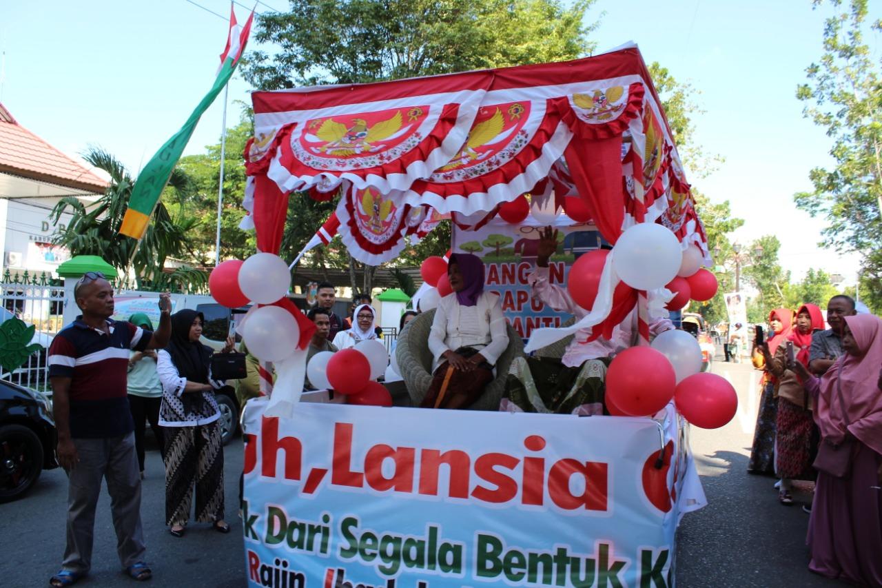Ratusan Lansia Ikuti Karnaval Lansia Dalam Rangka HLUN 2019 Kabgor