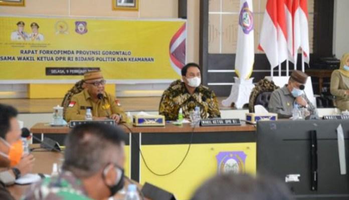 Forkopimda Gorontalo Rapat Konsultasi dengan Wakil Ketua DPR RI