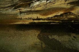 Salt encrustations in a ravine in Hell's Gate National Park