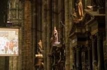 Inside Milans cathedral Duomo di Santa Maria Nascente