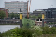 """Treue/Faithfulness"" Now we know what that looks like - a rusty old boat on a big river, in this case the Weser"