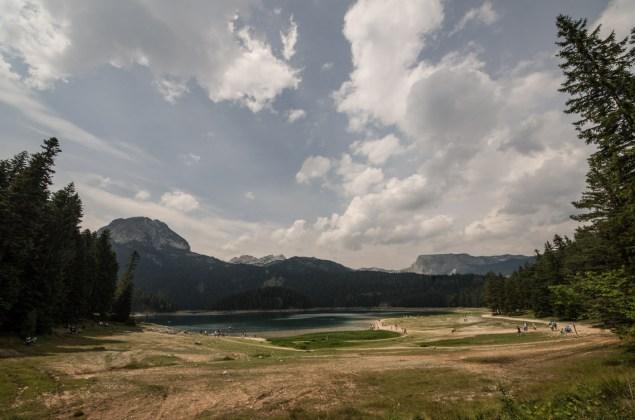 The black lake or Crno jezero close to Zabljak in Montenegro