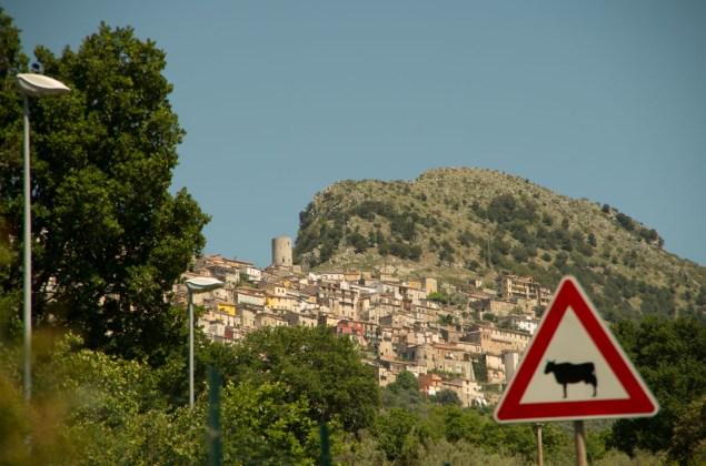 Castelcivita as seen from the valley floor