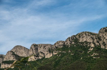 The impressive limestone faces of the Monti Alburni