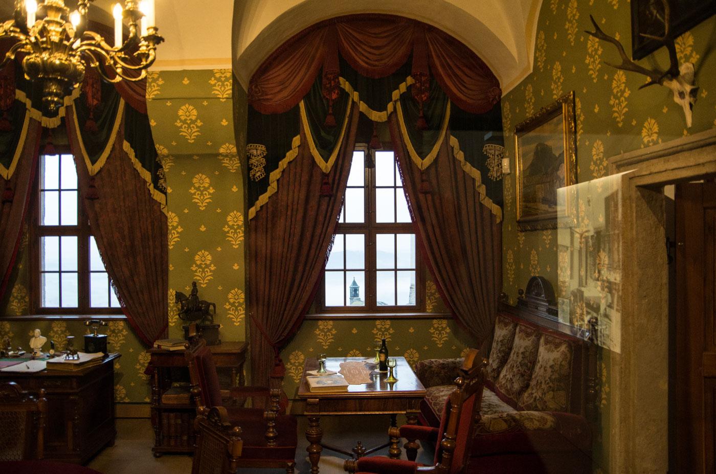 Das rekonstruierte Herrenzimmer des Kommandanten der Festung Königstein an der Elbe