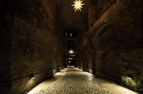Der Zugang zur Festung Königstein mit Falltoren und Löchern aus denen eventuelle Angreifer hätten beschossen oder mit siedendem Öl begossen werden können, auch wenn es unwahrscheinlich war es jemals fremde Truppen bis hierher geschafft hätten.